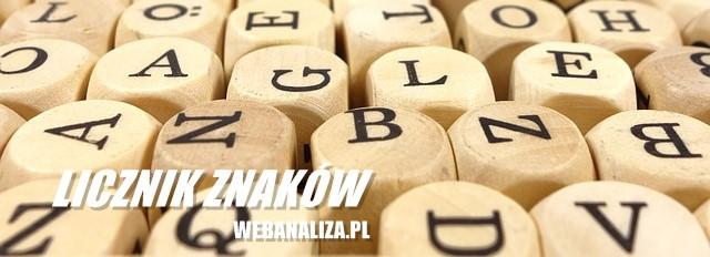 Licznik liter, znaków, wyrazów, słów, cyfr